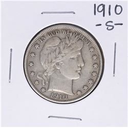 1910-S Barber Half Dollar Coin