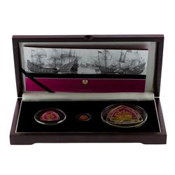 2007 Bermuda Shipwreck Gold & Silver Coin Collection with Box & COA