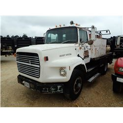 1988 FORD FUEL & LUBE TRUCK, VIN/SN:1FTYS90LXJVA38724 - S/A, CUMMINS ENGINE, 10 SPEED TRANS, GVWR 33