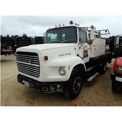 1988 FORD FUEL & LUBE TRUCK, VIN/SN:1FTYS90LXJVA38724 - S/A, CUMMINS ENGINE, 10 SPEED TRANS, GVWR 33