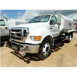 2005 FORD F750 WATER TRUCK, VIN/SN:3FRWF75T95V202048 - S/A, 250HP CAT C7 ENGINE, 7 SPEED TRANS, GVWR