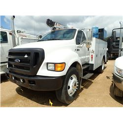2007 FORD F750 MECHANICS TRUCK, VIN/SN:3FRWF75N57V509172 - S/A, CAT C7 ENGINE, 6 SPEED TRANS, 25,999