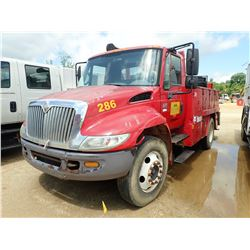 2007 INTERNATIONAL 4200 MECHANICS TRUCK, VIN/SN:1HTMPAFM47H429802 - S/A, INT. VT365 DIESEL ENGINE, 6