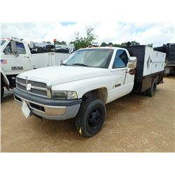 2000 DODGE RAM MECHANICS TRUCK, VIN/SN:3B6MC3664YMZ17506 - CUMMINS TURBO DIESEL ENGINE, A/T, 12' FLA