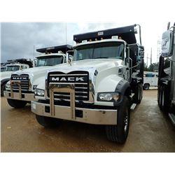 2019 MACK GR64F DUMP, VIN/SN:1M2GR4GC5KM003138 - TRI AXLE, 455 HP MACK MP8 ENGINE, MACK M-DRIVE AUTO