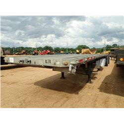 "1995 BENSON FLATBED TRAILER, VIN/SN:1NUFPT28ZSMNA0274 - T/A, 48' LENGTH, 96"" WIDTH, SPREAD AXLE, 11R"