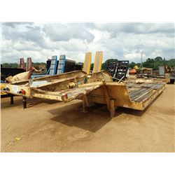 LOWBOY, - T/A, 40' LENGTH, DOVETAIL, RAMPS, 10.00R-20 TIRES