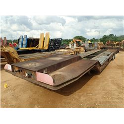 "LOWBOY TRAILER, - T/A, 35' LEGNTH, 96"" WIDTH, MOTOR GRADER RAMPS, DOVETAIL, 215/75R17.5 TIRES"