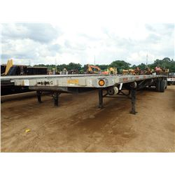 1999 FLATBED TRAILER, VIN/SN:1UYFS2483XA803603 - T/A, 48' LENGTH, SPREAD AXLE, STORAGE BOXES, 11R22.