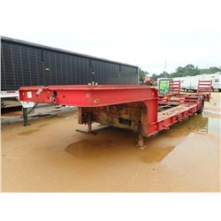 LOWBOY TRAILER, - S/A, 29' LENGTH, DOVETAIL, RAMPS (BILL OF SALE ONLY)