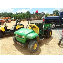 JOHN DEERE GATOR, VIN/SN:045387 - GAS ENGINE, DUMP BED, METER READING 1,513 HOURS
