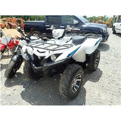 2018 YAHAMA GRIZZLEY 700 VIN/SN:5Y4AMA7Y2JA105118 - GAS ENGINE, METER READING 21 HOURS (ODOMETER REA