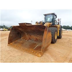 2014 CAT 980K WHEEL LOADER, VIN/SN:W7K01458 - BUCKET, RIDE CONTROL, LOAD-RITE SCALES, CAB, A/C, AUTO