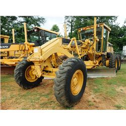 CAT 12H VHP MOTOR GRADER, VIN/SN:CBK00453 - 14' MOLDBOARD, SCARIFIER, CAB, A/C, 14.00-24 TIRES, METE