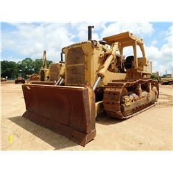 CAT D9H CRAWLER TRACTOR, VIN/SN:90V6203 - CUSHION BLADE, CANOPY, METER READING 5,754 HOURS