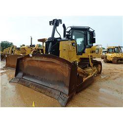 2013 CAT D7E CRAWLER TRACTOR, VIN/SN:TAN01283 - SEMI-U BLADE W/TILT, DIFF STEER, CAB, A/C, METER REA