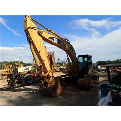 "CAT 322CL HYDRAULIC EXCAVATOR, VIN/SN:HEK00742 9' 8"" STICK, 48"" BUCKET, CAB, A/C, METER READING 9,51"