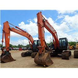2014 HITACHI ZX210LC-5N HYDRAULIC EXCAVATOR, VIN/SN:330462 - 9' 6'' STICK, 48'' BUCKET, THUMB, AUX H