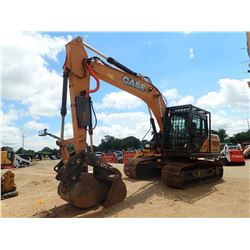 "2015 CASE CX160C HYDRAULIC EXCAVATOR, VIN/SN:S6F1657 - 8'-8"" STICK, 38"" BUCKET, COUPLER, HYD THUMB,"