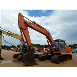 "HITACHI UH07LC-7 HYDRAULIC EXCAVATOR, VIN/SN:144-27018 - 9'-6"" STICK, 36"" BUCKET, CAB, METER READING"