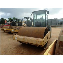 "2009 CAT CS56 ROLLER, VIN/SN:C5S00827 - VIBRATORY, 84"" SMOOTH DRUM, CAB, A/C, METER READING 5,742 HO"