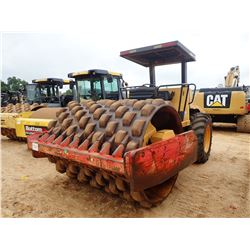 """DYNAPAC CA252PD ROLLER, VIN/SN:66320570 - VIBRATORY, 84"""" PADFOOT DRUM, CANOPY, METER READING 7,712 H"""