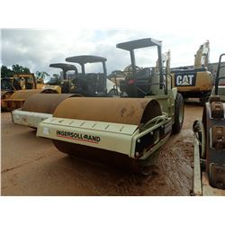 "INGERSOLL RAND SD100D ROLLER, VIN/SN:146591 - VIBRATORY, 84"" SMOOTH DRUMS, CANOPY, METER READING 8,7"