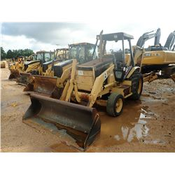 CAT 416B LOADER BACKHOE, VIN/SN:8SG05760 - BUCKET, CANOPY, METER READING 4,169 HOURS (COUNTY OWNED)