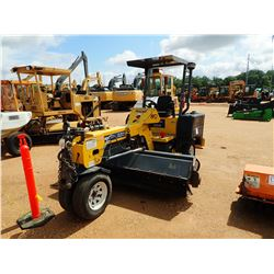 2014 TERRAMITE TSS48 BROOM, VIN/SN:214TS0401 - DIESEL ENGINE, 8' BROOM, TOW PACKAGE, CANOPY, METER R
