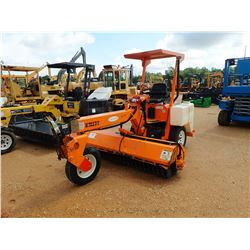 LAY-MOR 8HC BROOM, VIN/SN:28819-005 - PORTABLE, CANOPY, KUBOTA DIESEL, METER READING 1,191 HOURS