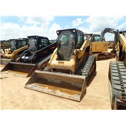 2010 CAT 299C SKID STEER LOADER, VIN/SN:JSP00868 - CRAWLER, HIGH FLOW, 2 SPEED, BUCKET, CAB, A/C, ME