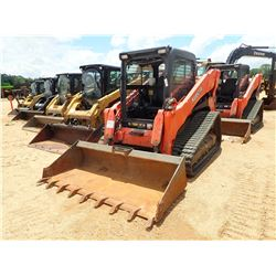 2015 KUBOTA SVL90-2 SKID STEER LOADER, VIN/SN:15385 - CRAWLER, BUCKET, CAB, A/C, METER READING 1,788