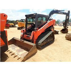 2013 KUBOTA SVL90-2 SKID STEER LOADER, VIN/SN:12183 - CRAWLER, BUCKET, CAB, A/C, METER READING 3,001