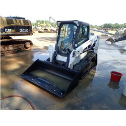 2014 BOBCAT T550 SKID STEER LOADER, VIN/SN:AJZV11644 - CRAWLER, CAB, A/C, METER READING 2,127 HOURS