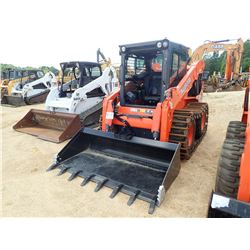2016 KUBOTA SSV75 SKID STEER LOADER, VIN/SN:11090 - WHEELED, WRAP AROUND STEEL TRACKS, HIGH FLOW, 2
