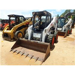2011 BOBCAT S650 SKID STEER LOADER, VIN/SN:A3NV14896 - WHEELED, BUCKET, CANOPY, METER READING 539 HO