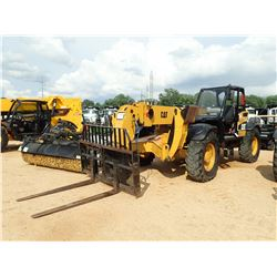 CAT TH460B TELESCOPIC FORKLIFT, VIN/SN:SLF02532 - 9,000LB CAP, 44' REACH, OUTRIGGERS, CANOPY, 14.00-