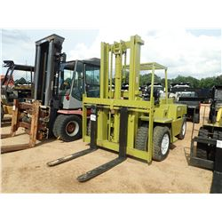 CLARK C500Y110 FORKLIFT, VIN/SN:Y10151964806 - PROPANE, 11,000LB CAPACITY, DOUBLE STAGE MAST, CANOPY