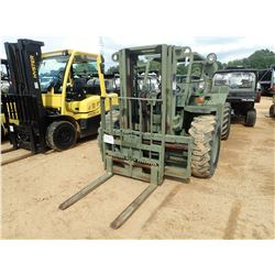 MILITARY FORKLIFT, VIN/SN:3930013308907 - 4X4, 4500LB CAPACITY, DOUBLE STAGE MAST, CANOPY, METER REA