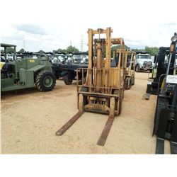 CAT V60B FORKLIFT, VIN/SN:87M1169 - 6,000LB CAPACITY, DOUBLE STAGE MAST, CANOPY, METER READING 86 HO