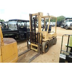 HYSTER FORKLIFT, VIN/SN:E003D01657A - 5,550# CAP, DOUBLE STAGE MAST, CANOPY, METER READING 3,949 HOU