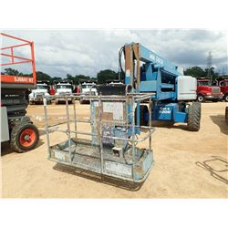 GENIE Z60/34 MANLIFT, VIN/SN:Z60054822 - 4X4, 60' REACH, 500LB BUCKET CAPACITY, METER READING 2,020