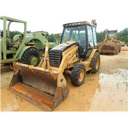 CAT 420D LOADER BACKHOE, VIN/SN:FDP05078 - 4X4, E-STICK, MP BUCKET, CAB, A/C, METER READING 7,057 HO