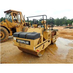 "CAT CB434 ROLLER, VIN/SN:3TF00068 - TANDEM, 56"" SMOOTH DRUMS, VIBRATORY, METER READING 2,568 HOURS ("