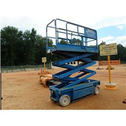 JLG MODEL 2033E ELECTRIC SCISSOR LIFT W/ WHEELS (B-2)