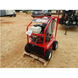 MAGNUM 4000 SERIES HOT WATER PRESSURE WASHER, GAS ENGINE, HOSE & WAND IN CONTAINER (B-4)