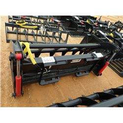 "74"" GRAPPLE ROOT RAKE, FITS SKID STEER LOADER (B-5)"
