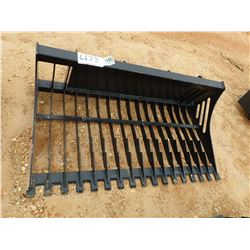 "66"" SKELETON ROCK BUCKET, FITS SKID STEER LOADER (B5)"