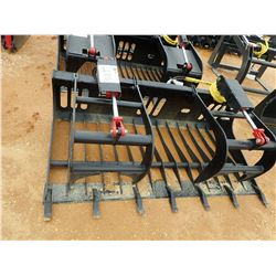 "72"" ROCK GRAPPLE, FITS SKID STEER LOADER (B-5)"