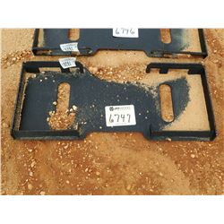 SOLID BACK QUICK ATTACH PLATE, FITS SKID STEER LOADER (B-5)